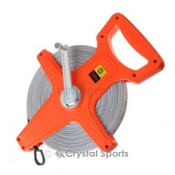 AU Tape Measure 100M Fiberglass Open Reel Measuring Metric Imperial Tool