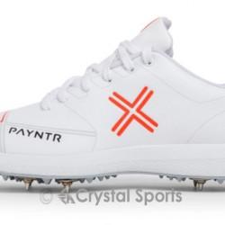 Payntr X Batting Spike All White Cricket Shoe