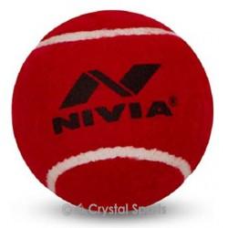 6 x Nivia Heavy Tennis Cricket Ball