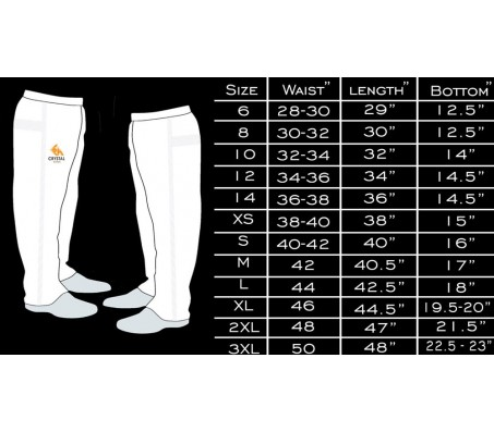 Crystal Sports Cricket White Trouser/ Pant